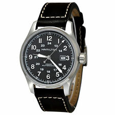 Hamilton Khaki Field Officer Automatic Black Dial Leather Swiss Watch H70625533