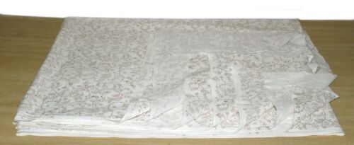 Indien Or Blanc Main Bloc Imprimé floral tissu de coton 1 Yd environ 0.91 m couture