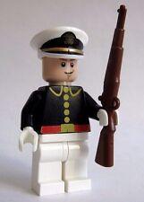 Lego Custom USA NAVY Officer Minifigure w/ BrickArms M1 GARAND -Drill Team-
