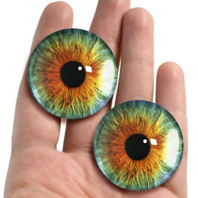 Large Baby Blue Glass Human Doll Craft Eyeballs 38mm