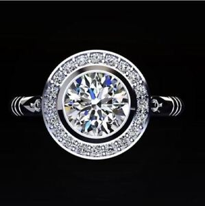 Certified-2-65CT-White-Round-Cut-Diamond-Exclusive-Halo-Bridal-Ring-14K-Gold