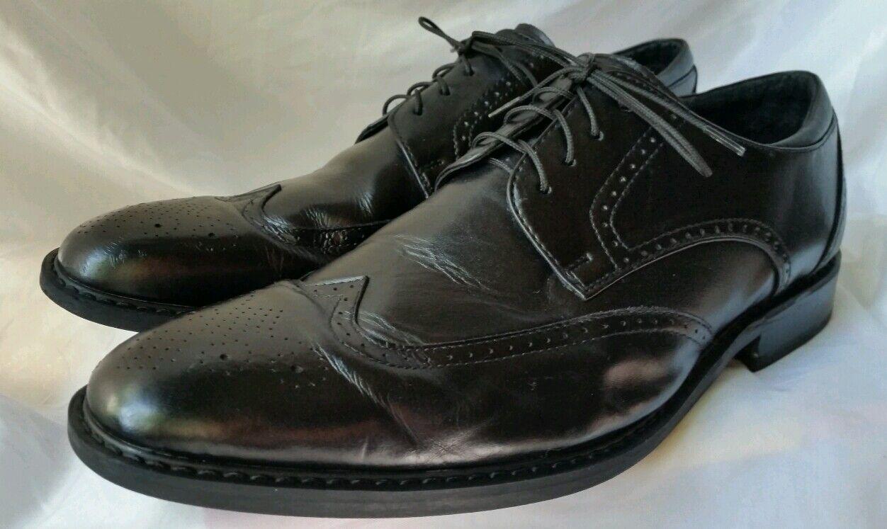 JOSEPH ABBOUD Men's Black Wingtip Oxford Shoes Size 10 1/2 D Great Condition!