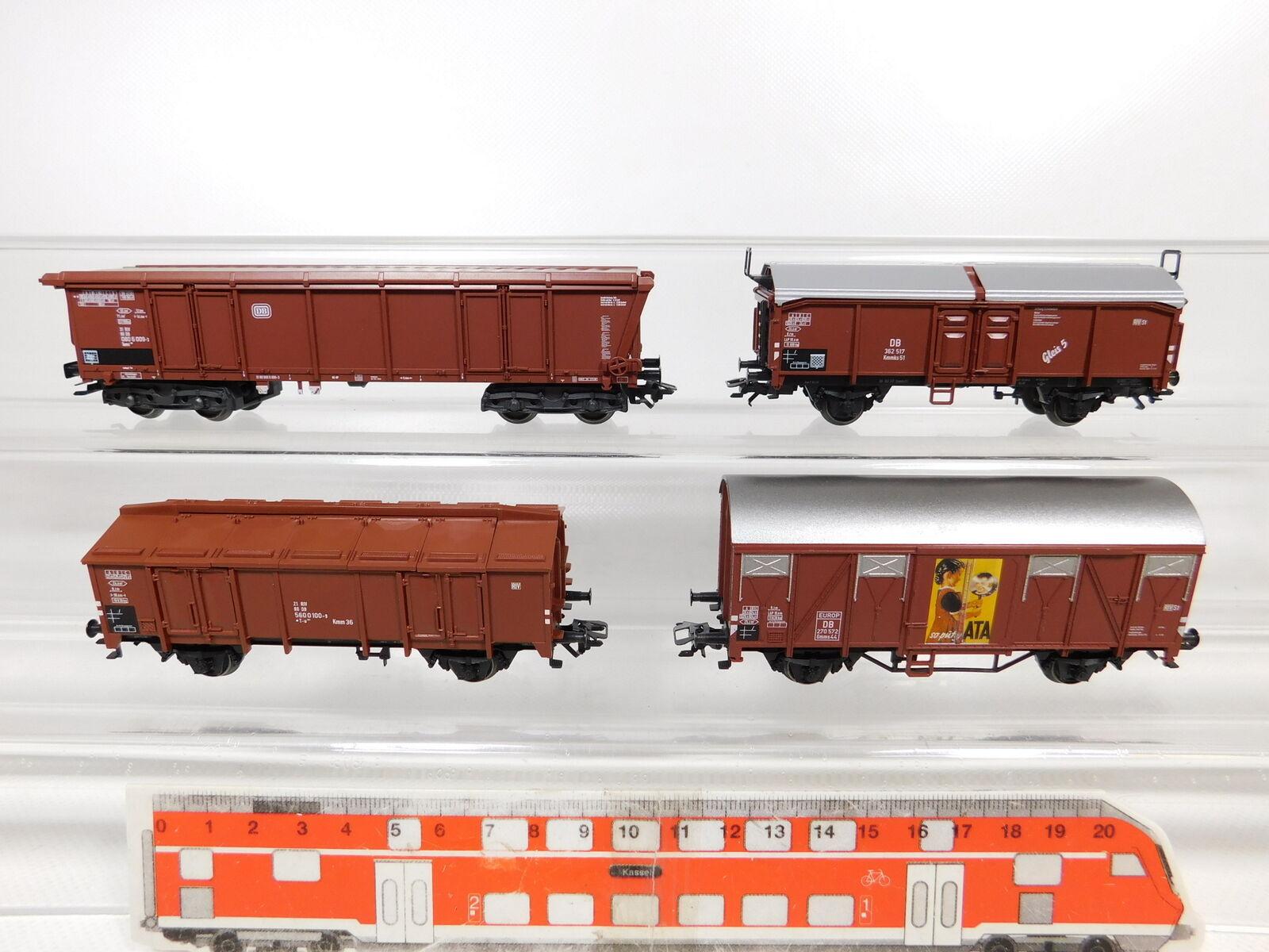 Bz900-0, 5 x Märklin h0 ac Boxcar DB NEM KK  362 517 + 270 572 etc.