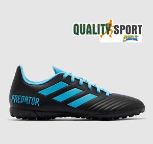 Détails sur Adidas Predator 19.4 Tf Noir Bleu Chaussures Hommes Football Soccer F35636 2019