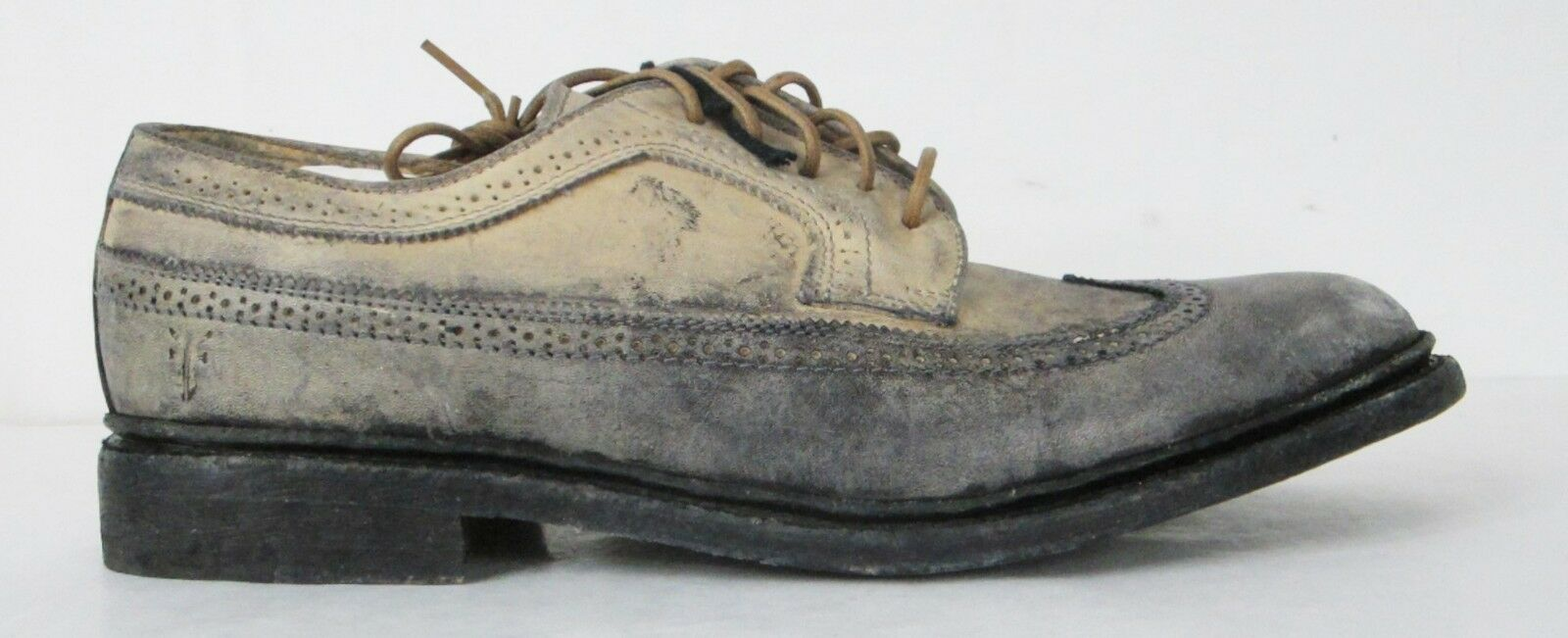 FRYE SHOES James Wingtip Stone Distressed Distressed Distressed Leather 84627 SZ 13  348 418335