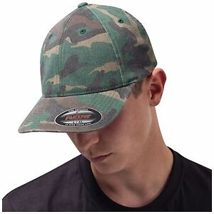Details about Camouflage Baseball Cap Camo Hat Military Army Mens Womens  Flexfit 6977CA 57c5c8ff46