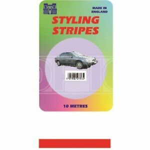 Castle-Promotions-Single-Stripe-Red-3mm-10m-Length-CPS01R
