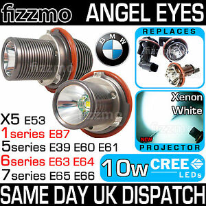 10W-CREE-LED-BMW-MARKER-ANGEL-EYES-RING-KIT-E39-X5-E53-E60-E63-E64-E65-E66-E87