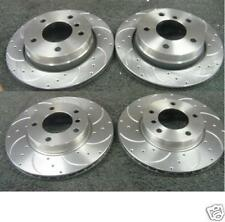 BMW 320 323 325 E46 COUPE BREMBO DRILLED GROOVED BRAKE DISC FRONT REAR