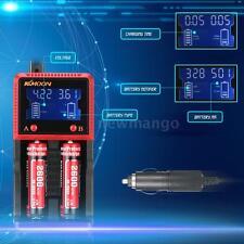 Li-ion LiFePO4 NIMH NICD LCD Smart Battery Charger for AA/AAA/26650/18650/ 18490