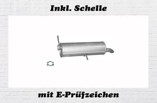 Peugeot 307 Break//SW 2.0 16V Endschalldämpfer Auspuff Endtopf Schelle