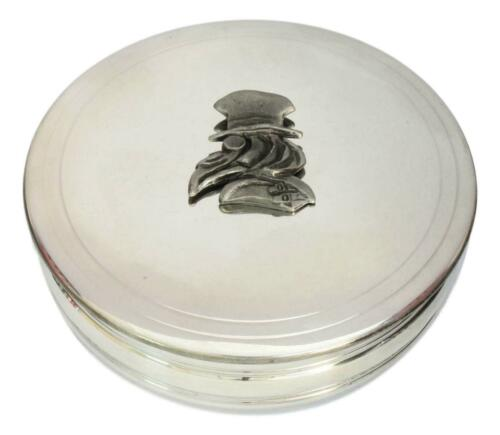 Plague Doctor Traditional Pewter Trinket Jewellery Pill Box Halloween Gift 411