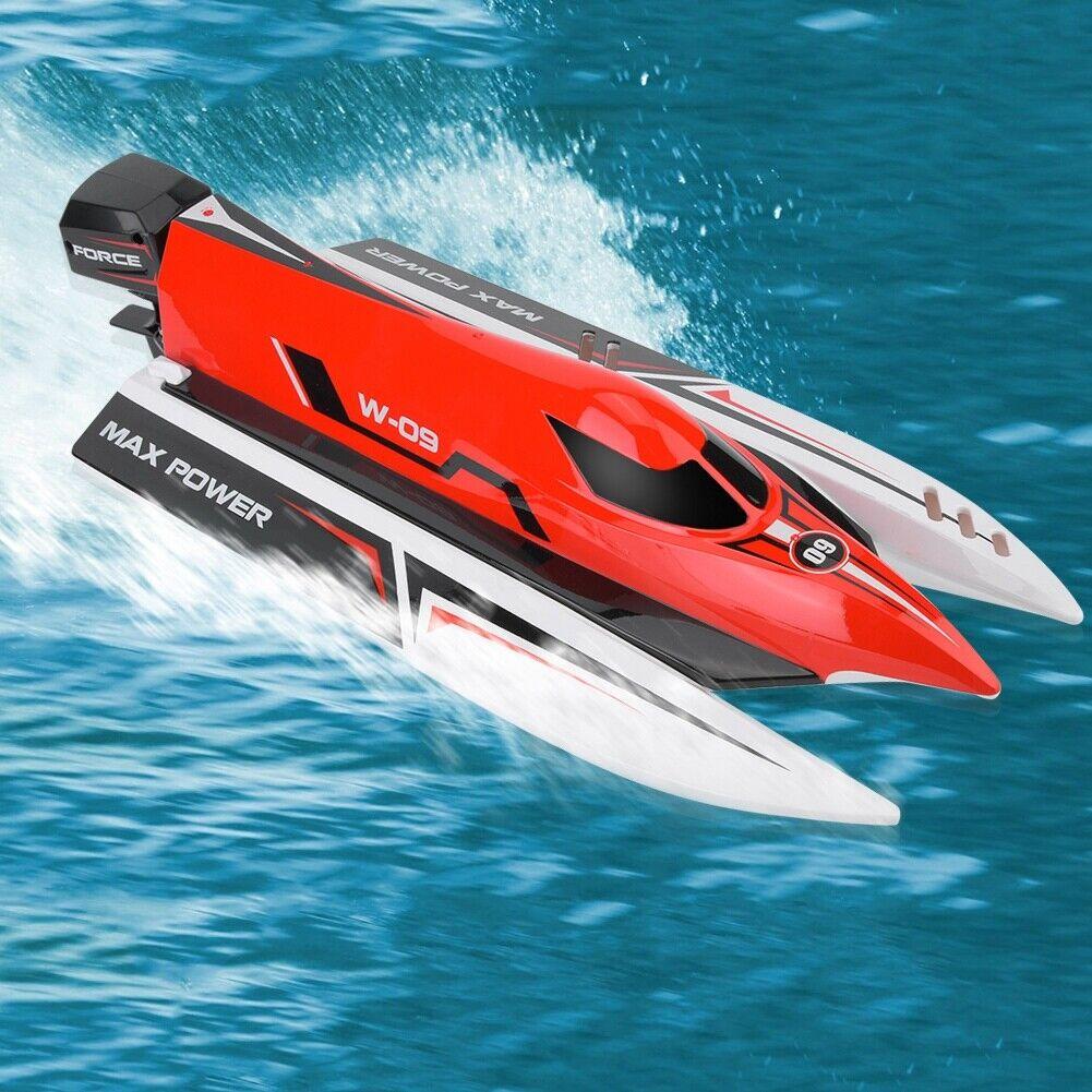Wltoys RC 2.4g 45km h brushless lancha rápida speedboat control remoto wassedicht