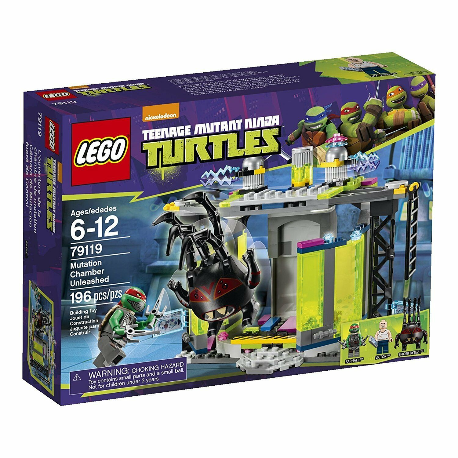 Sealed LEGO Mutation Chamber Unleashed TMNT Teenage Mutant Ninja Turtles 79119