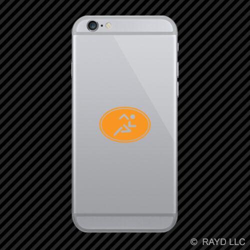Oval Running Cell Phone Sticker Mobile triathlon marathon many colors 2x
