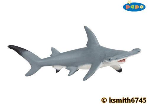 Papo Hammerhead Shark solide Jouet en plastique Wild Zoo Mer Animaux Marins Poissons Nouveau