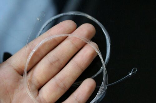 5 pcs 9FT//2.75M Tapered Leader Fly Fishing Line 0X//1X//2X//3X//4X//5X//6X Clear Color