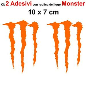Kit-2-Adesivi-Monster-Graffio-Moto-Stickers-Adesivo-7-x-10-cm-decalcomania-ARANC