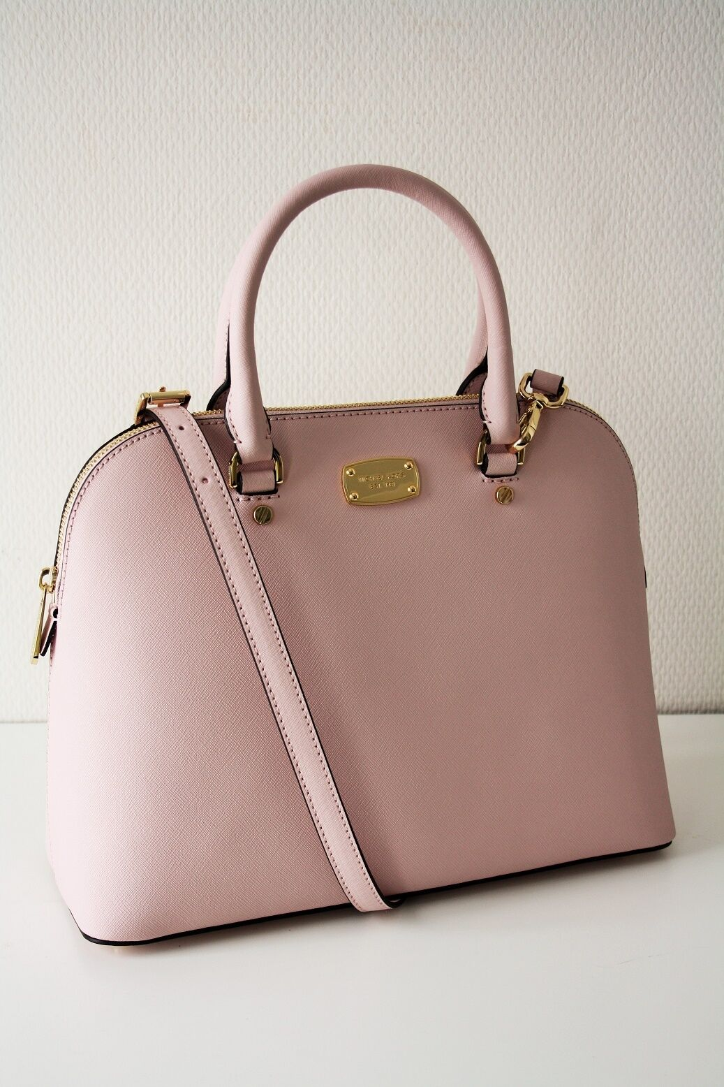 511c8433ffdc Michael Kors Cindy LG Dome Satchel Saffiano Leather Blossom rose for ...