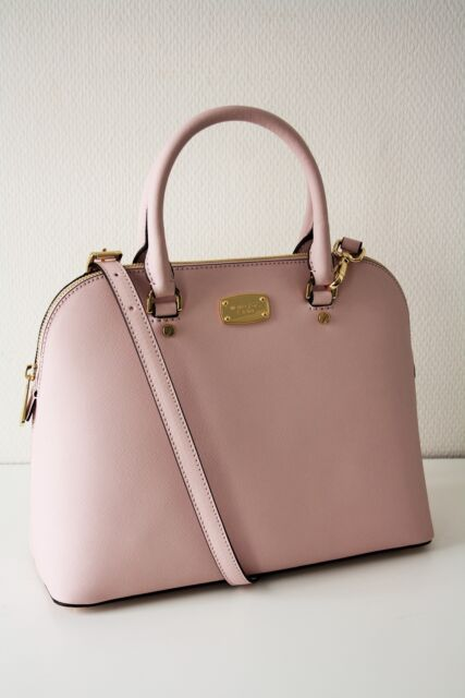 109e30349db3 Michael Kors Cindy LG Dome Satchel Saffiano Leather Blossom/rose for ...
