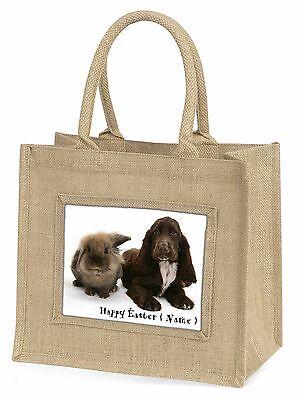 Personalisiert Hase+Hund Große Natürliche Jute-einkaufstasche Weihnachten,