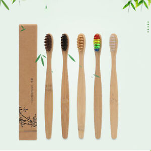 Am-BG-10Pc-Durable-Soft-Bristle-Bamboo-Toothbrush-Travel-Trip-Oral-Hygiene-Car