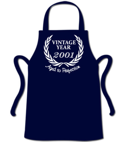 Wreath 2001 19th Funny Birthday Apron 19 Year Old Gift Present BBQ Chef
