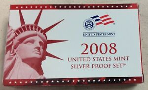 2008-US-MINT-SILVER-PROOF-SET-Complete-w-Original-Box-and-COA