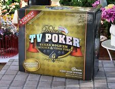 Deluxe TV Video Game System Texas Hold'em Blackjack Poker 6 Player Edition - EUC