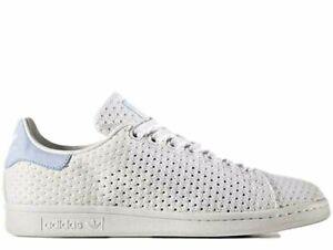 Adidas-Originals-Stan-Smith-Women-039-s-UK-Size-6-EU-39-5-Triple-White-Blue-NEW