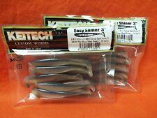 """10ea//20ttl 2pks #486 Arkansas Shiner KEITECH Easy Shiner 3/"""" Swimbait"""