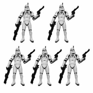 Lot-of-5-Star-Wars-Republic-Elite-Forces-Clone-Trooper-3-75-034-Loose-Action-Figure