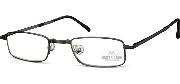 Lesebrille Montana klappbar Unisex Faltbrille Flexibrille Grau oder Schwarz TOP