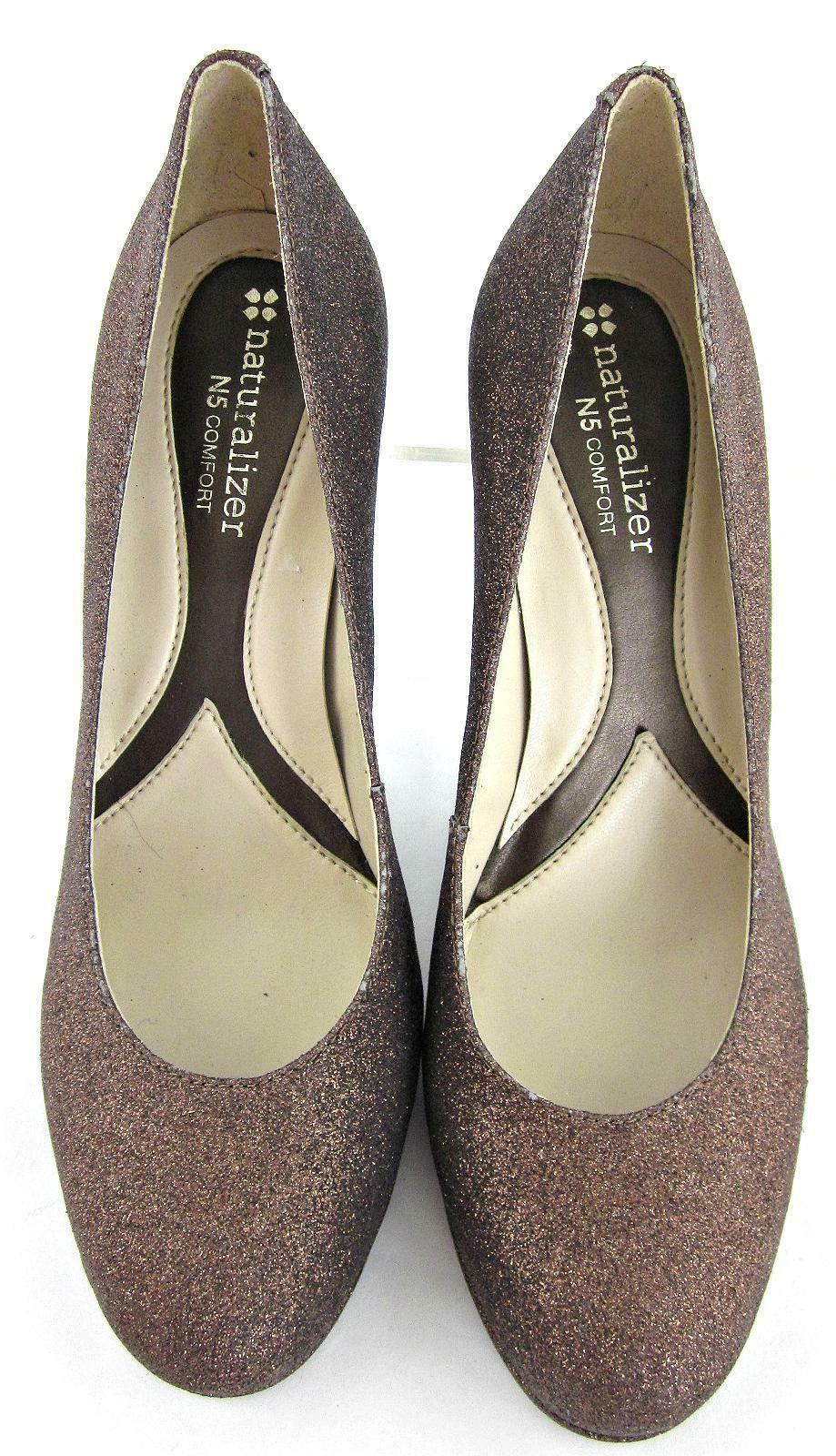 NEW  Dress Naturalizer 'Lennox' Round Toe Dress  Pumps Copper Glitter Leather 6B a51f52