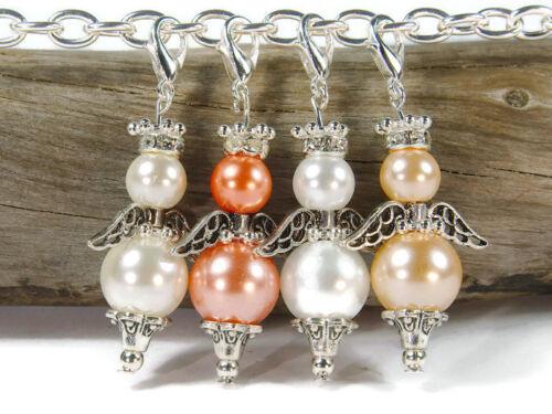 10 amuleto DIY Ángel remolque de perlas al mismo bricolaje Ángel de la guarda