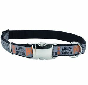 Harley-Davidson-Ribbon-Overlay-Bar-amp-Shield-Adjustable-Dog-Collar-and-or-Leash