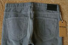TRUE RELIGION ROCCO Slim Jeans 30X33 NWT$294 Sugar Cane-TR Logo-Button Fly-ITALY