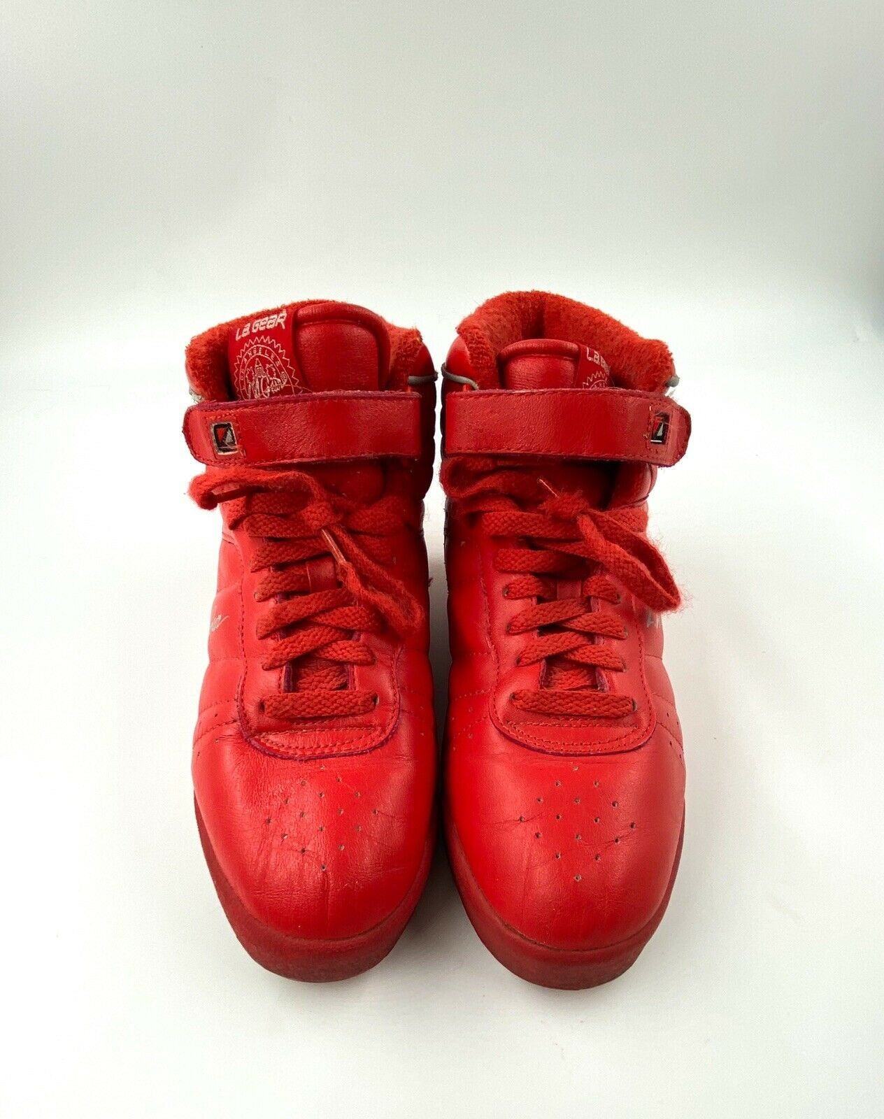 L.A. Gear 6.5 Vintage 80s Red Sneakers 90s Tennis… - image 2