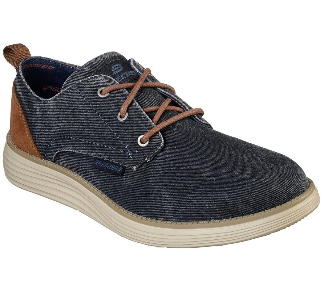 SKECHERS // Pexton // Mens Navy Shoes Trainers // NEW!!!