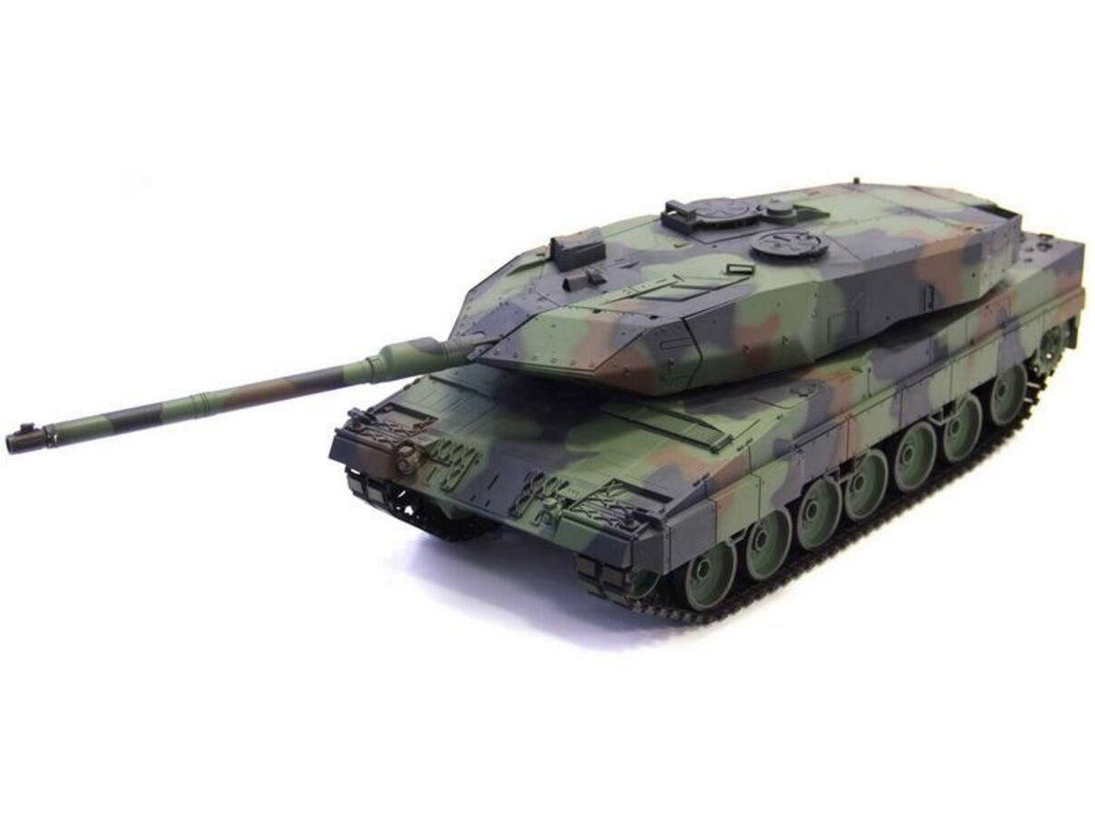 1 16 German Leopard 2A6 RC Tank Smoke & Sound Remote Control 2.4GHz New