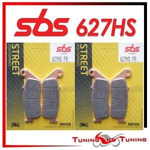 4 PASTIGLIE FRENO ANTERIORI SBS 627 HS SINTER TRIUMPH Tiger 800 XC//XCX//XCA 2015