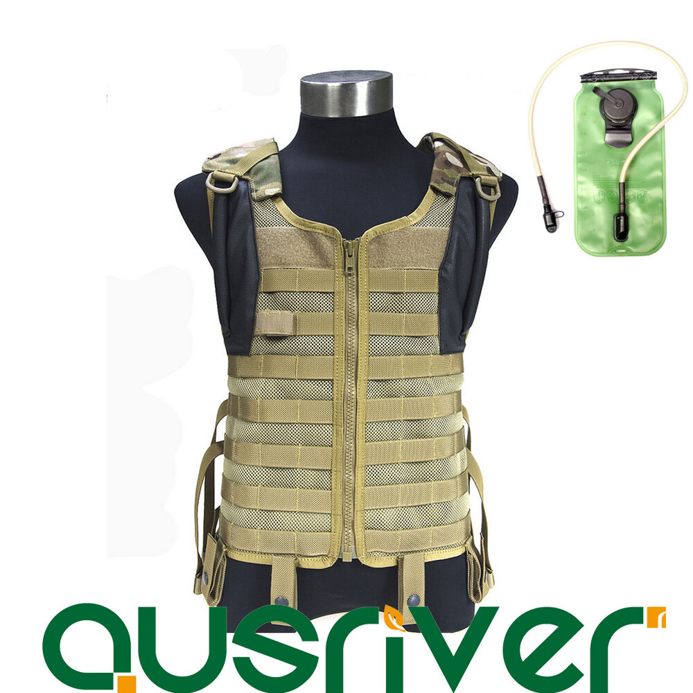FLYYE Army  Combat Delta Tactical Mesh Vest Military Molle+ 3L Hydration Bladder  best price