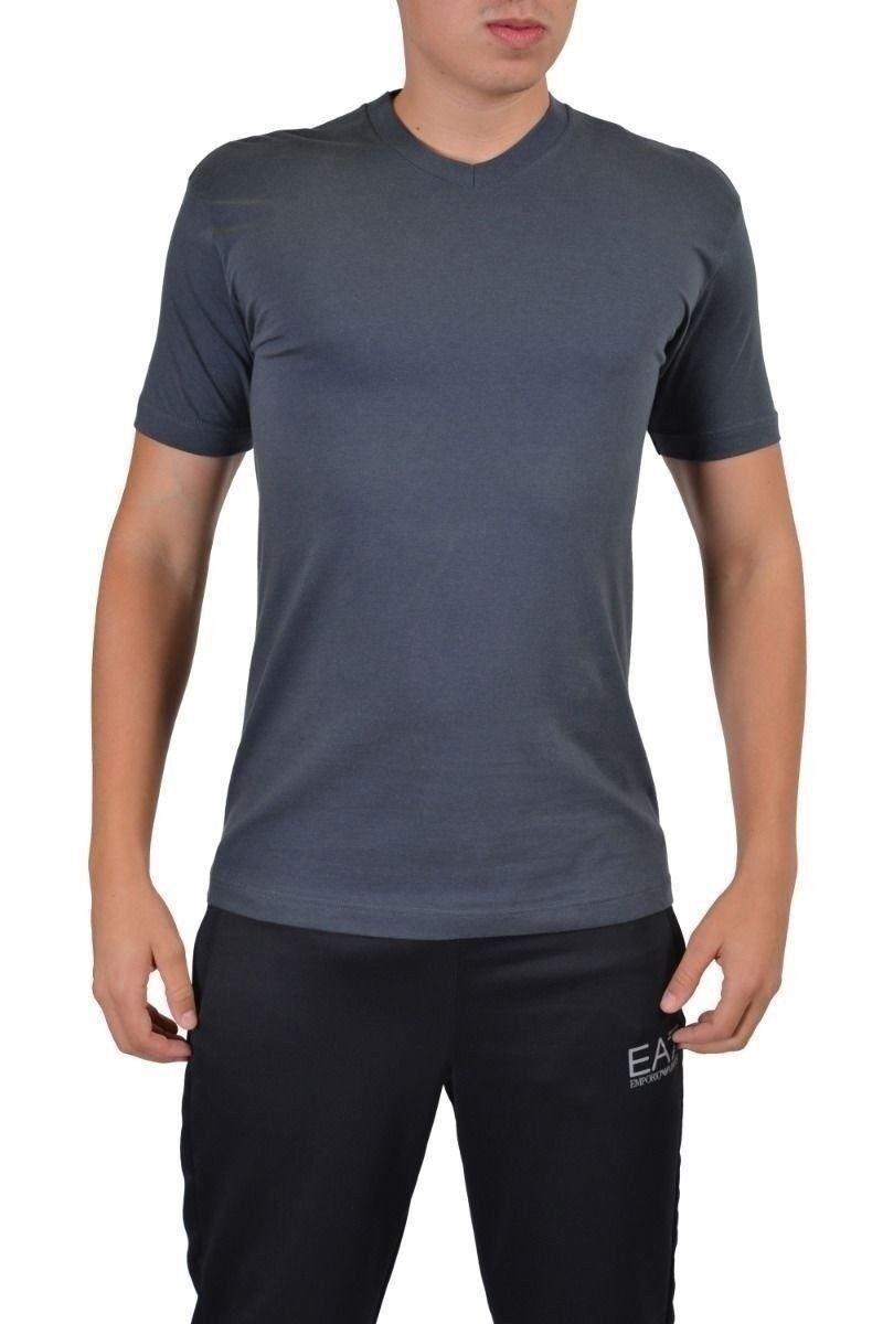 Emporio Armani Uomo Grigio Scollo a V T-Shirt Manica Corta USA S It 48