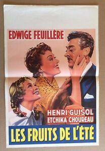 affiche cinema belge les fruits de l 39 t film sorti en 1955 ebay. Black Bedroom Furniture Sets. Home Design Ideas