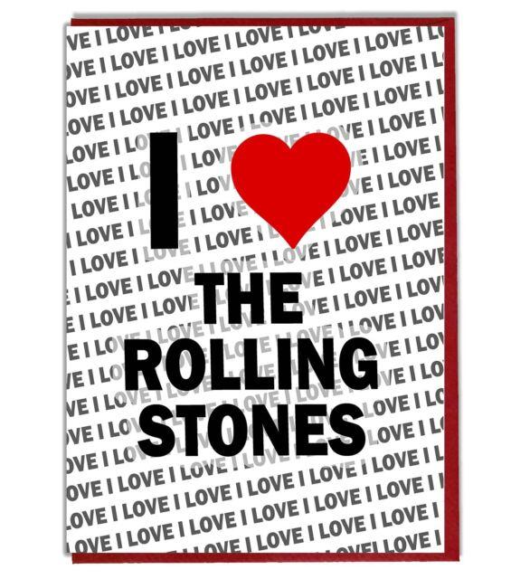 Grußkarte Geburtstagskarte Ich Liebe The Rolling Stones