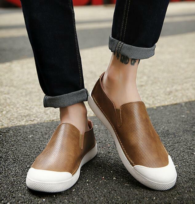 2019 Mens Slip On Loafer Faux Leather Casual Moccasin Comfort Driving Flat shoes