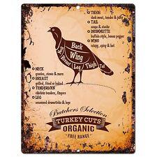 PP0659 Vintage Turkey Meat Cuts sign Home Store Restaurant Cafe Kitchen Decor