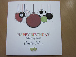 Image Is Loading Personalised Handmade Birthday Card Dad Son Brother Uncle