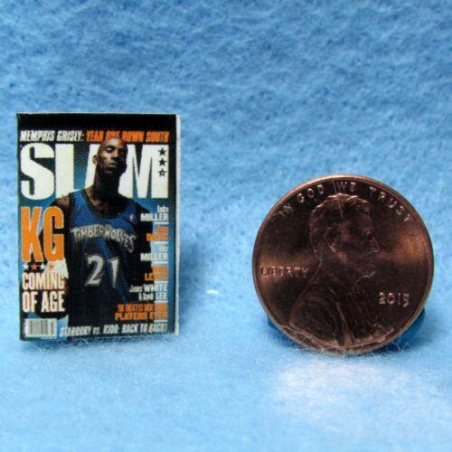 Dollhouse Miniature Replica of SLAM Basketball Magazine ~ Print Cover /& Back