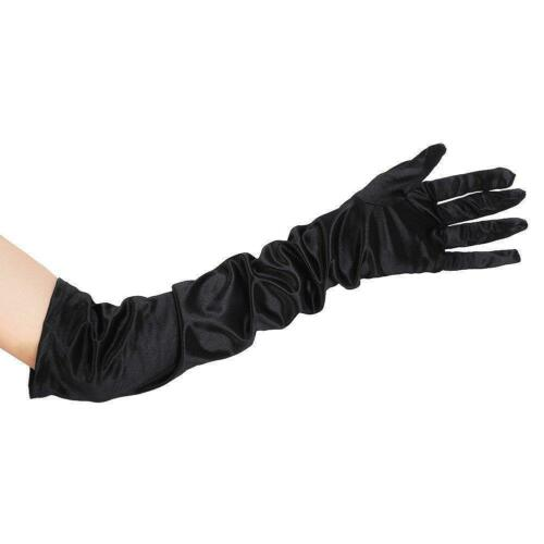 ** gants long noir théâtral déguisements adulte NOUVEAU *